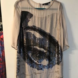 French Connection Eye Sequin Dress - Size 6